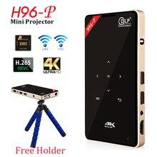 DLP проектор H96 P Full HD LED видео домашнего кинотеатра Smart Портативный проектор Беспроводной WI-FI Bluetooth TV Android карманный проектор