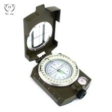 ФОТО professional multifunction military army metal sighting compass high accuracy waterproof compass green color zs