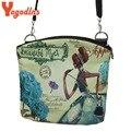 2017  vintage Summer Women Messenger Bags Canvas Print Crossbody Shoulder Bags Small Ladies Designer Handbags High Quality