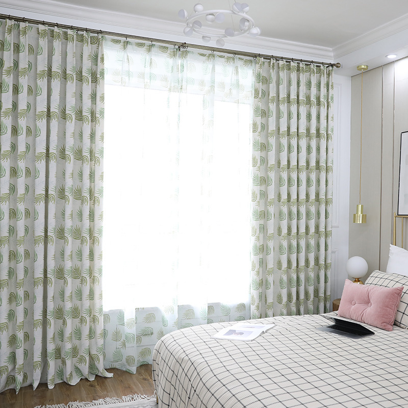 Slow Soul Evening Maple Forest Blue Orange Green Curtain Curtains