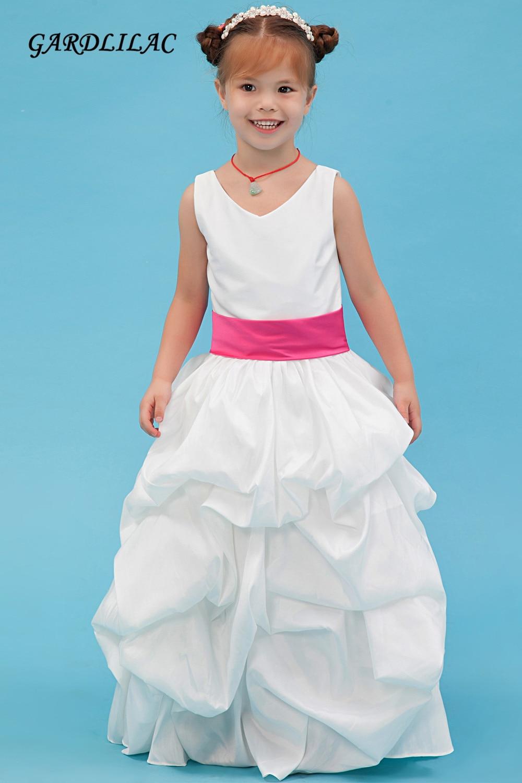 2017 Real Picture White Flower Girl Dress For Wedding Prty Short
