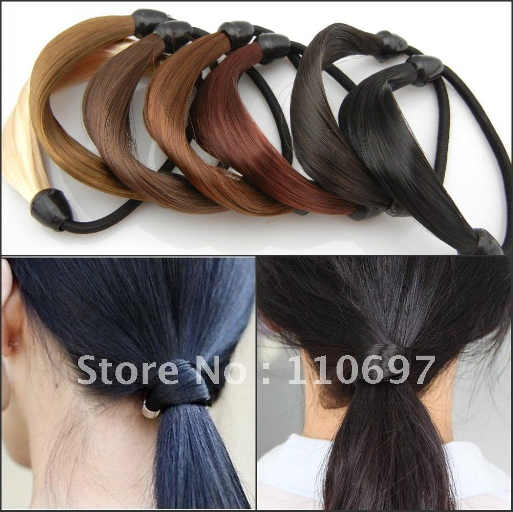 Free Cn Shipping 7pcslot Mixed Colours Faux Wig Stretchy Elastic