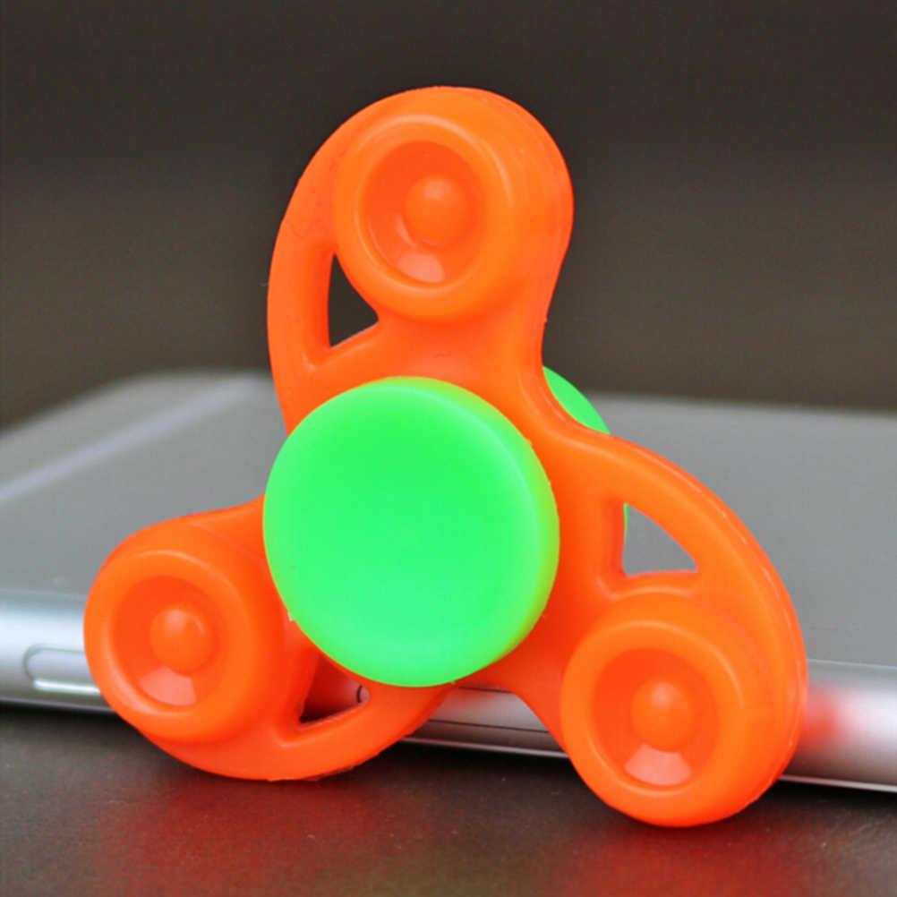 Многоцветная игрушка-Спиннер Tri-Spinner антистресс пластик для развития рук Спиннер для аутизма и СДВГ для избавления от стресса и тревожности фокус игрушки Детский подарок