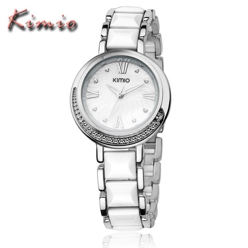 Часы наручные на белом керамическом браслете