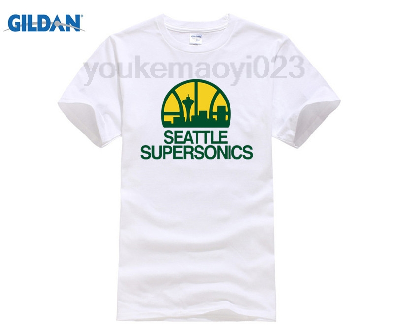 Seattle Supersonics T-shirt cotton Lycra top Fashion Brand t shirt new high quality image