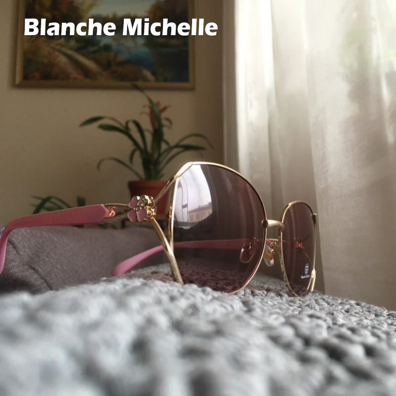 Image 2 - Blanche Michelle Polarized Sunglasses Women Brand Design UV400 Sun Glasses women's sunglasses oculos feminino Fashion Four leaf-in Women's Sunglasses from Apparel Accessories on AliExpress