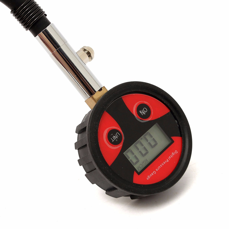 0 200PSI Instrument Ball Head Universal Tire LCD Digital Pressure Gauge Internal Have Battery Cycle Car Truck 4 Units Available in Tire Pressure Alarm from Automobiles Motorcycles