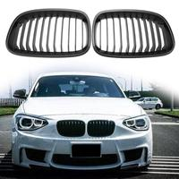 VODOO 1 Pair Car Front Kidney Grill Grilles Matte Black Replacement For BMW 1 Series F20