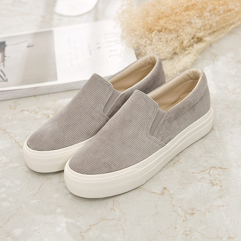 MFU22 Walking shoes thick canvas shoes student Korean walking shoes B1Y1-B1Y16MFU22 Walking shoes thick canvas shoes student Korean walking shoes B1Y1-B1Y16