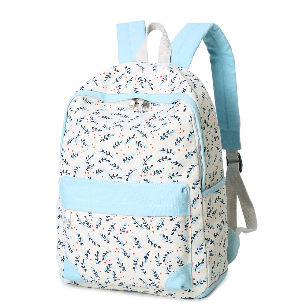 Girls Canvas Backpack Printing School Backpacks Schoolbag For Teenagers Student Book Bag Satchel