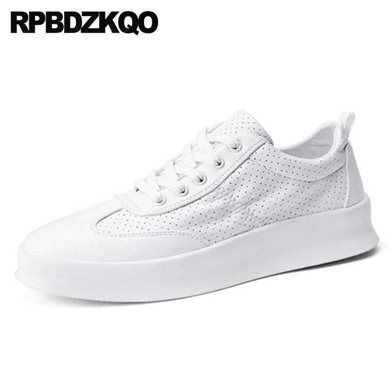 Encaje Casual Zapatillas Skate Alta Hueco Verano Zapatos De Negro Negro blanco Enredaderas Calidad Plataforma Hombres Transpirable Los Elegante 2018 0q0Xr