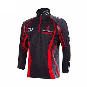 Image 5 - Professional Brand Fishing Clothes 2020 New Daiwa Fishing Shirt Breathable Quick Dry Anti UV Long Sleeve Fishing Clothing