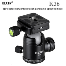 лучшая цена BEXIN panoramic Ball Head Tripod Stand Adapter with Quick Release Plate pu60 for Canon Nikon Sony Digital SLR Camera tripod
