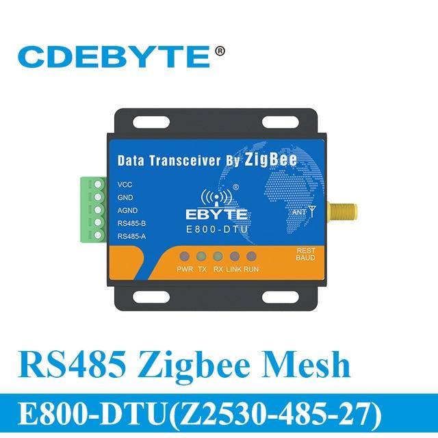 E800 DTU(Z2530 485 27) большой диапазон RS485 CC2530 2,4 ГГц 500 МВт беспроводной трансивер 27 дБм приемник передатчик радиочастотный модуль
