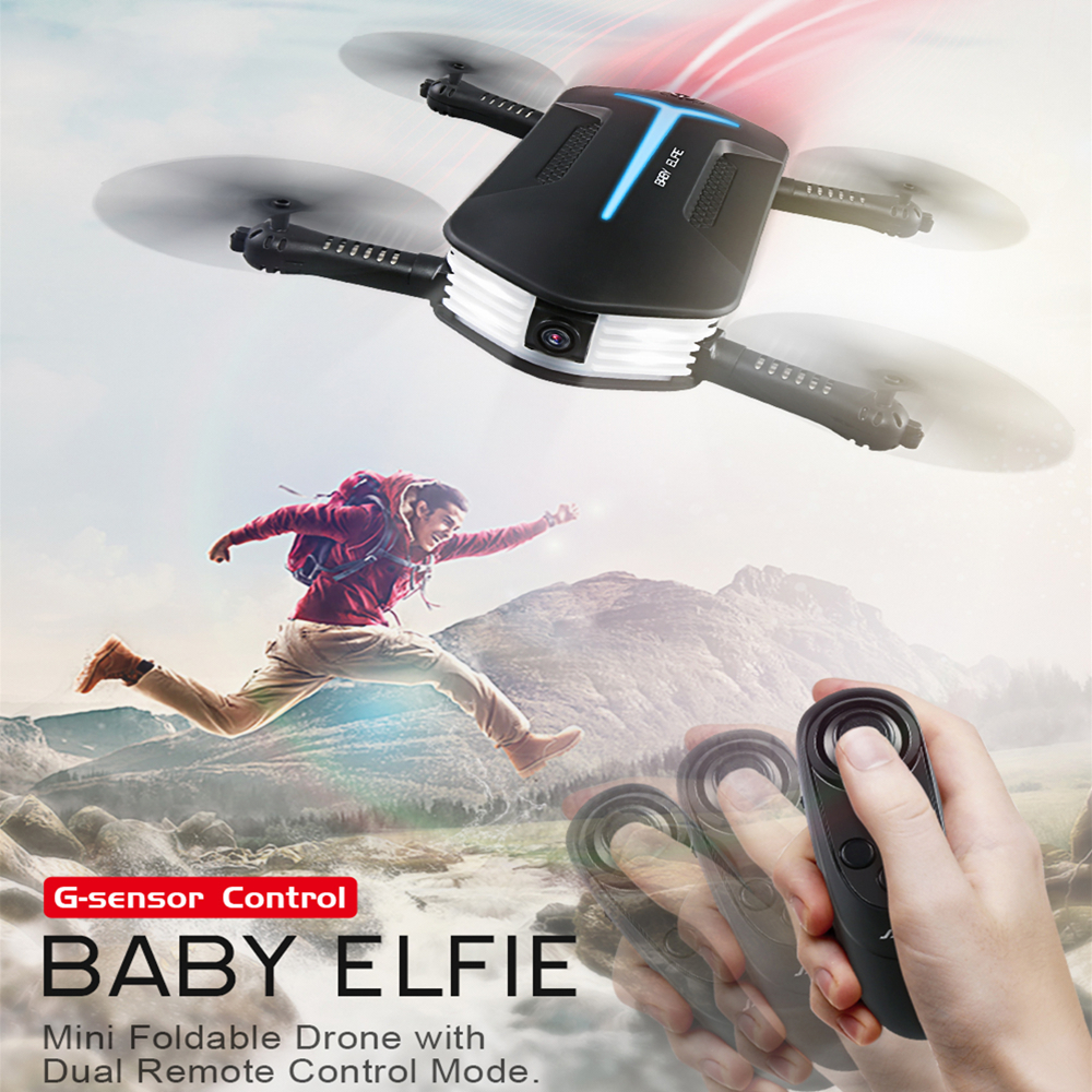 JJRC H37 Mini Drone with Camera Elfie RC Quadcopter Selfie Drone with Beauty Mode FPV Camera 720P Foldable RC Helicopter VS H37