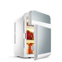 Mini geladeira freezer fresco 20l duplo-porta de refrigeração veículo-carregado geladeira mini-pequeno frigorífico doméstico