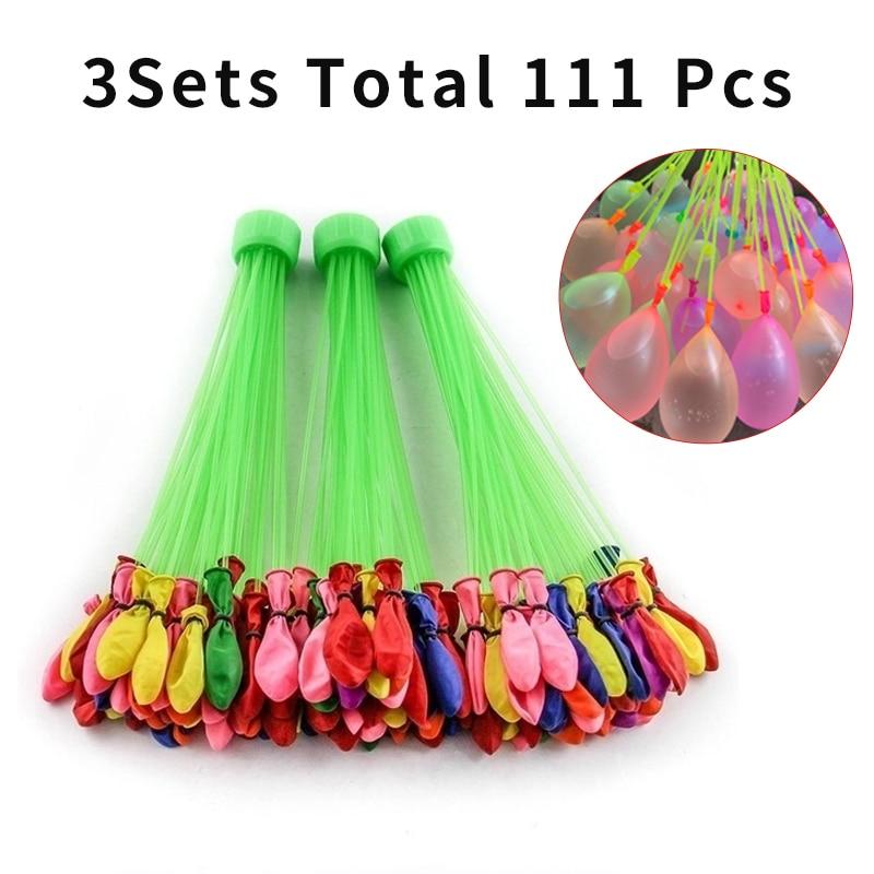 Haben Sie Einen Fragenden Verstand 111 Stücke Wasser Bomben Ballon Erstaunliche Füllung Magie Ballon Kinder Wasser Krieg Spiel Liefert Kinder Sommer Im Freien Strand Spielzeug Partei
