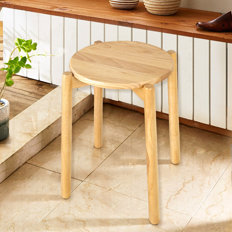 Furniture Bedroom Furniture Square Shape Wooden Stool Thicken Soft Stable Stool For Living Room Dressing Chair Brand New