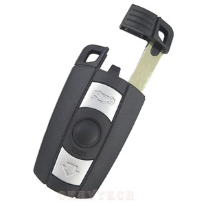 Чехол для дистанционного ключа от машины для BMW 1 3 5 6 серии E90 E91 E92 E60 3 кнопки без лезвия пустой чехол для смарт-карты Сменный Чехол для брелка
