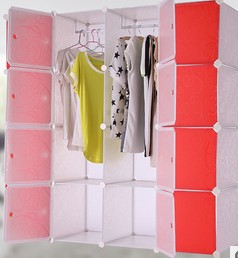 Clothes Storage cabinet finishing cabinet DIY magic piece combination wardrobe PD1616 wardrobe extra large eco friendly cartoon hanging clothes cabinet wardrobe storage box wire combined type child simple