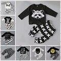 Новорожденных малышей мальчики одежда набор Baby boy одежда мода малышей одежда для новорожденных, малышей bebe установить Возраст 0-2 год C6275