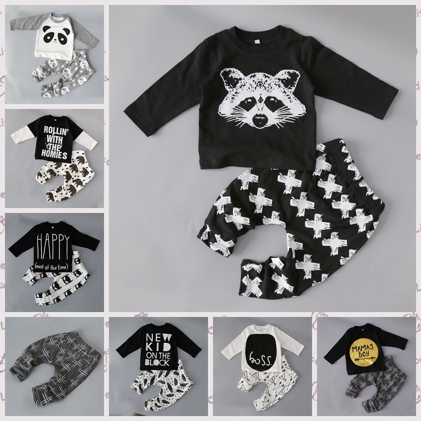 Newborn little kids boys clothes set baby boy clothes fashion toddler baby clothing toddler bebe set