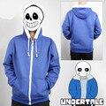 Undertale Sans Papyrus Hoodie blue Coat Cosplay Costume Cotton Fleece Hoodies Sweatshirts Autumn Jacket Casual boys Clothes