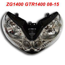 For 08-15 Kawasaki ZG1400 GTR1400 ZG GZ GTR 1400 Motorcycle Front Headlight Head Light Lamp Headlamp CLEAR 2008 2009 2010-2015
