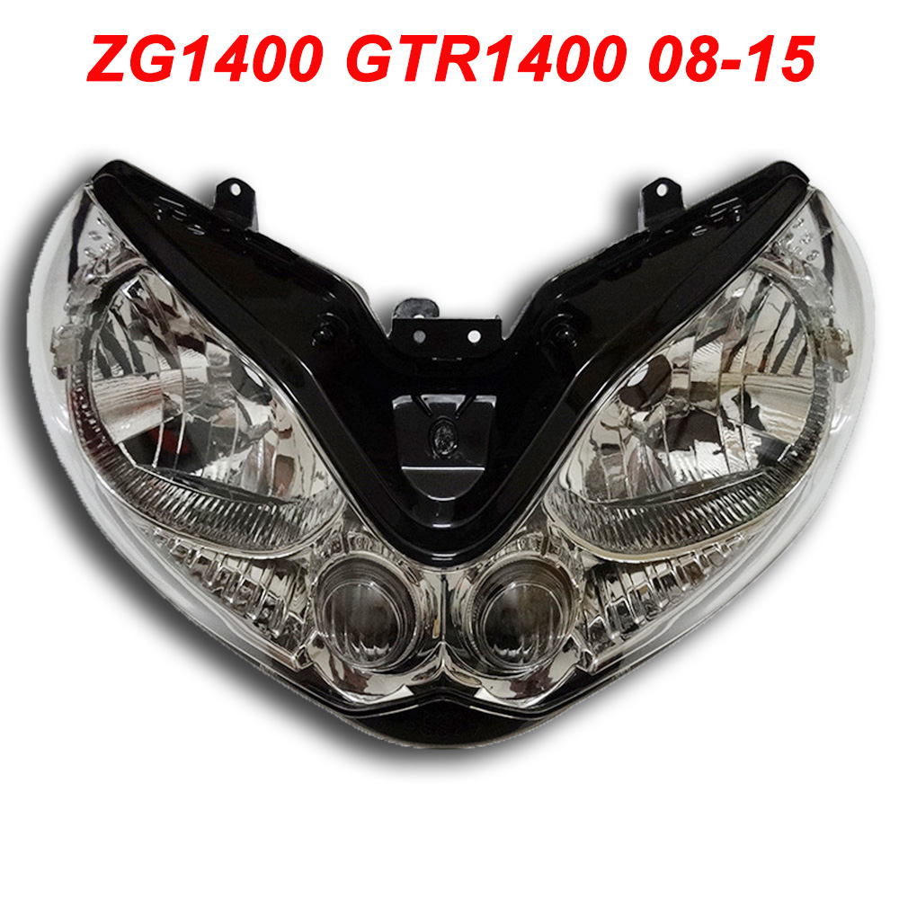 Pour 08-15 Kawasaki ZG1400 GTR1400 ZG GZ RTM 1400 Moto Phare Avant Lampe Phare CLAIR 2008 2009 2010-2015