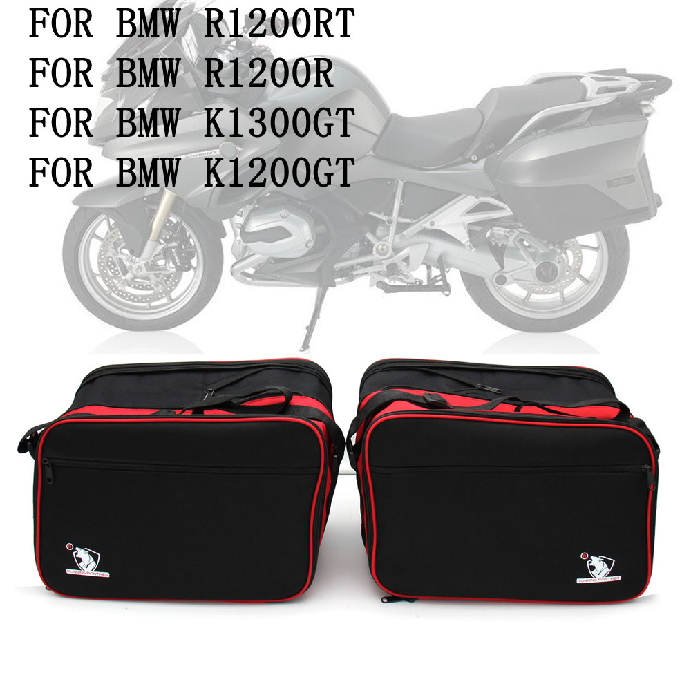 For Pannier Liner BMW R1200RT R1200GT R1200R K1300GT Motorcycle Luggage Bags Black Expandable Inner Bags