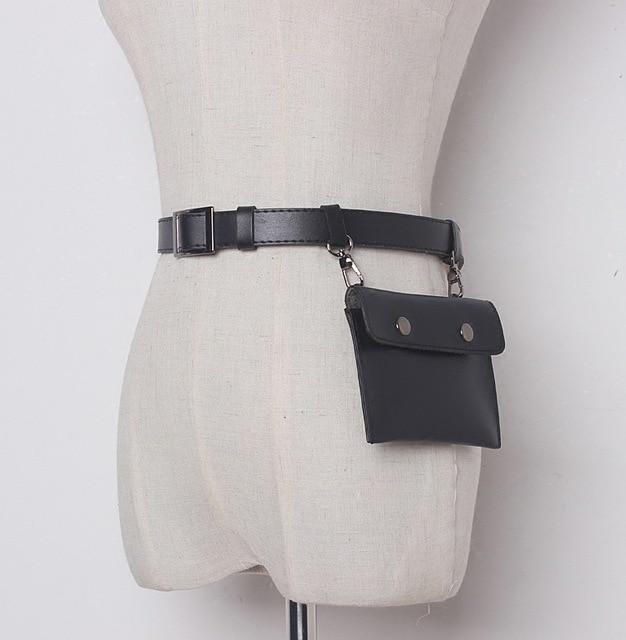 New women belt bag pu leather small belt bag pouch female money belts  travel fashion fanny pack belt sling waist bags d42531391c