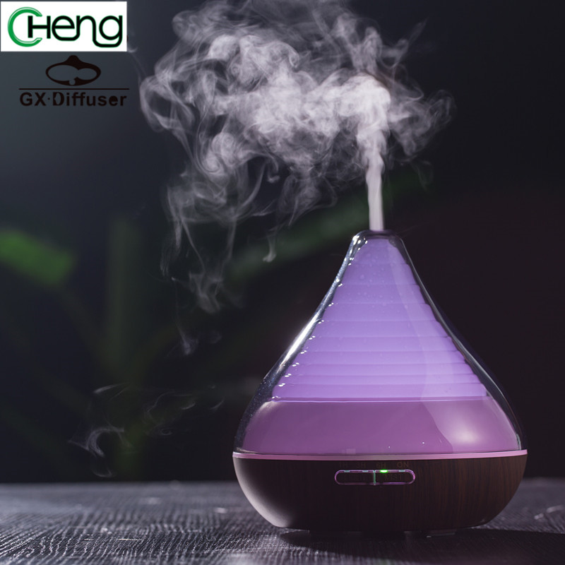 Menukar Warna Lampu Led Portable Essential Oil Diffuser Mist Maker Ultrasonic Purifier Lembut halus melembapkan Air Humidifier rumah