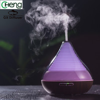 Changing Colors Led Lights Portable Essential Oil Diffuser Mist Maker Ultrasonic Purifier Wooden Air Humidifier Aroma