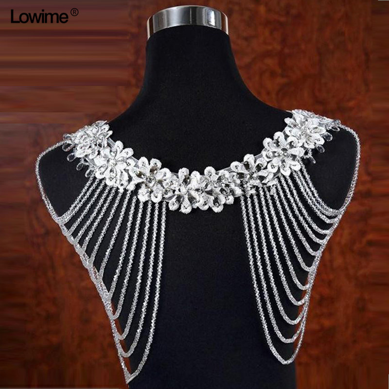 White/Ivory Bolero Appliques Crystals Wedding Wrap Wedding Bolero Made in China Wedding Accessories Evening Dress Bolero Shawl