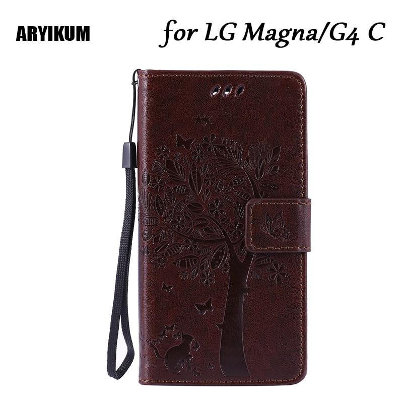 ARYIKUM Mobile Phone Cases For LG Magna H502f H500F Wallet Magnet Flip Cover Leather Case LG G4C H525N H522Y Coque G4 Mini Case