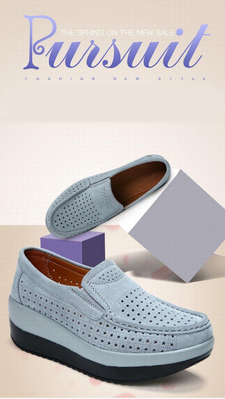SWYIVY Для женщин тонизирующее обувь из натуральной кожи Толстая подошва дышащая Обувь для танцев летние полые большой размер 42 Женская обувь для похудения
