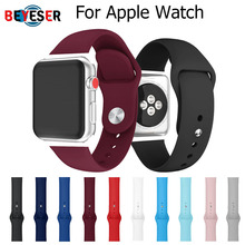 sports silicone for apple watch band 42mm 38mm 40mm 44mm smart watchbands wrist bracelet strap for i watch series 5 4 3 2 1 belt Colorful Sport Silicone 40mm 44mm Band For Apple Watch Series 1 2 3 4 5 38mm 42mm Wrist Bracelet Strap Watch Replacement Bands