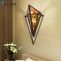 Nordic, post modern style, personality, living room, diamond shaped lamp, bedroom bedside table, diamond wall lamp.