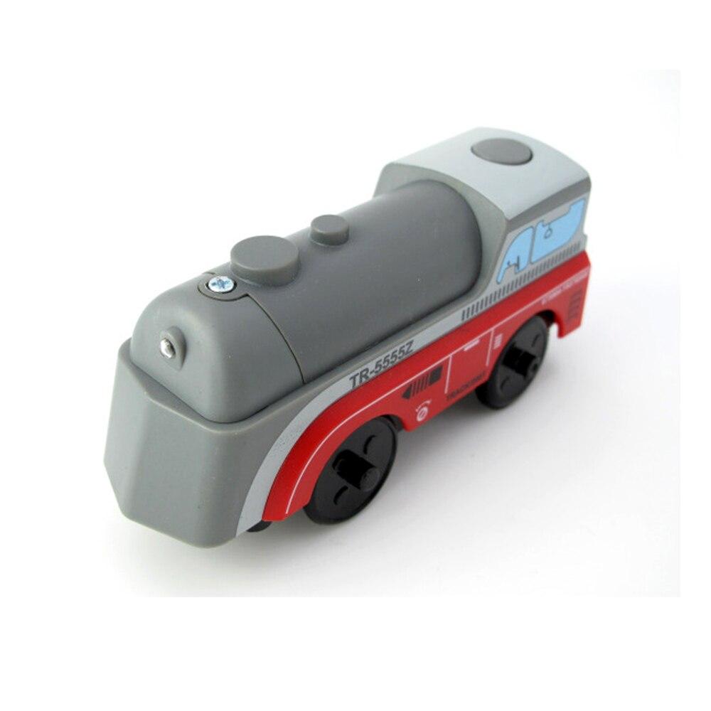 W-1 frete grátis crianças trem elétrico brinquedos slot magnético diecast eletrônico brinquedo presentes de aniversário para crianças caber faixa de madeira brio