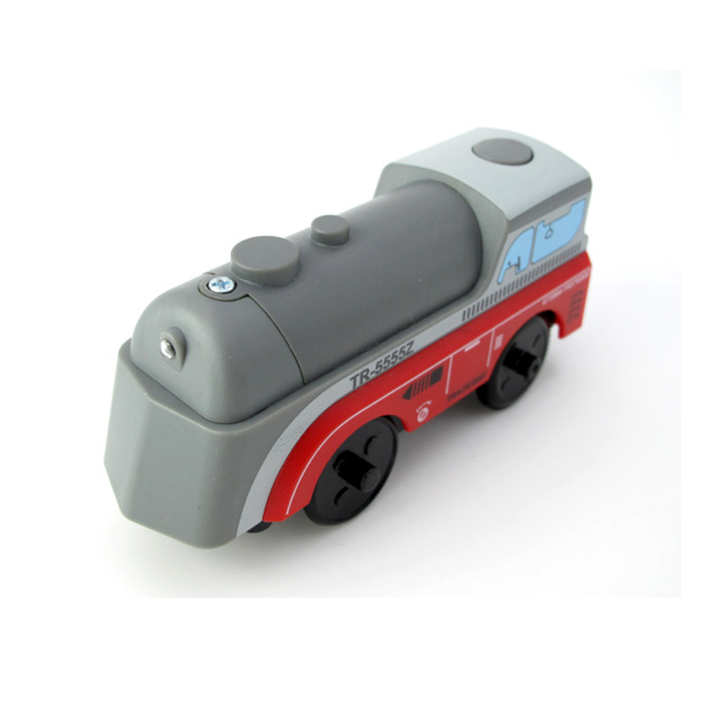 W-1 Free Shipping Kids Electric Train Toys Magnetic Slot Diecast Electronic Toy Birthday Gifts For Kids FIT Wooden Track Brio