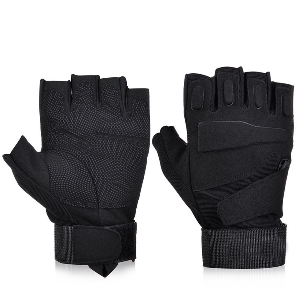 Black gloves online - Black Hawk Fingerless Tactical Gloves Military Army Paintball Airsoft Shooting Combat Workout Protection Half Finger Gloves