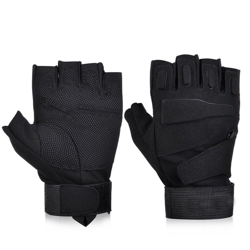 Black Hawk Fingerless Tactical Gloves Military Army