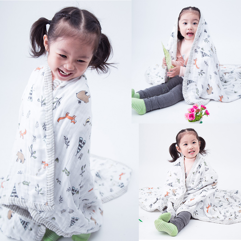 120X120cm Autumn High Quality Muslin Tree 3 layers 70%Bamboo 30%Cotton Gauze Newborn Broad Edge Baby Child Dream Blanket sanjaya aryal use of child soldiers in nepal