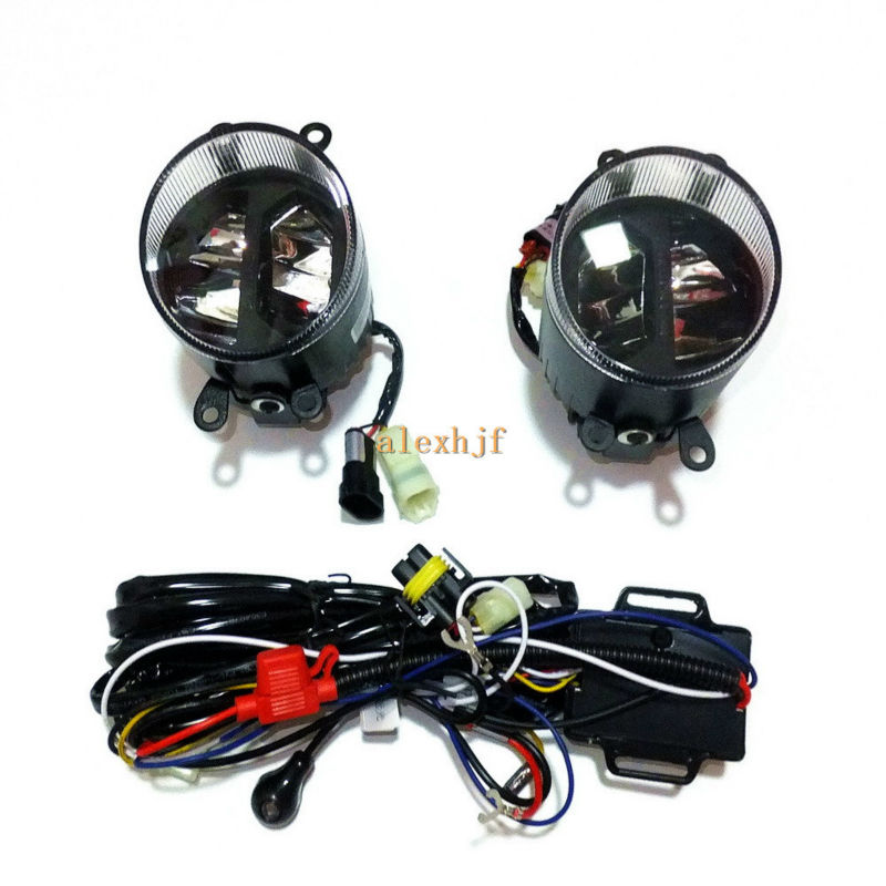 Yeats 1400LM 24W LED Fog Lamp, High-beam and Low-beam + 560LM DRL Case For Toyota Aqua 2012- ON, Automatic light-sensitive bosch phg 500 2
