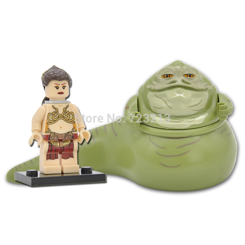 Single Sale Star Wars Figure Jabba the Hutt Princess Leia Tauntaun Building Blocks Starwars Set Model Toys For Children ручки otto hutt oh001 61052