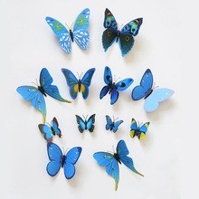 12pcs Multi Colors 3D PVC Butterflies DIY Wall Sticker Kids Room Fridge Home Decor Butterfly Decals Butterfly Stickers for Wall