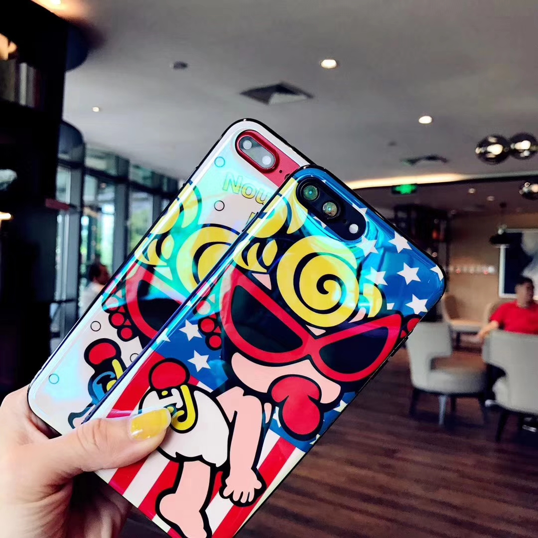 hot Japan Cartoon Nipple Superman Baby Hysteric mini Case For iPhone Xs Max Xr X 8 7 6 6S Plus IMD Blue-ray Soft TPU Phone Cover