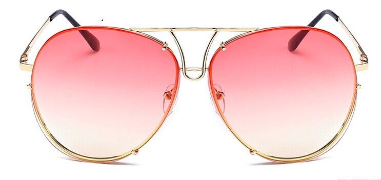2018 Grande Marque design Aviation lunettes de soleil Hommes de mode ... 7130a72c1f05