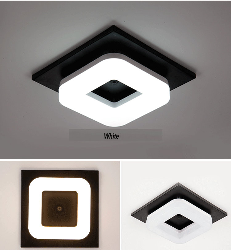 HTB18lMYjY3nBKNjSZFMq6yUSFXag Artpad Modern Flush Mount Ceiling Light Hallway Porch Balcony Lamp Interior Lighting Surface Mounted Square LED Ceiling Lights