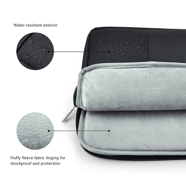 Nylon Laptop Sleeve Notebook Bag Pouch Case for Macbook Air 11 13 12 15 Pro 13.3 15.4 Retina Unisex Liner Sleeve for Xiaomi Air  4